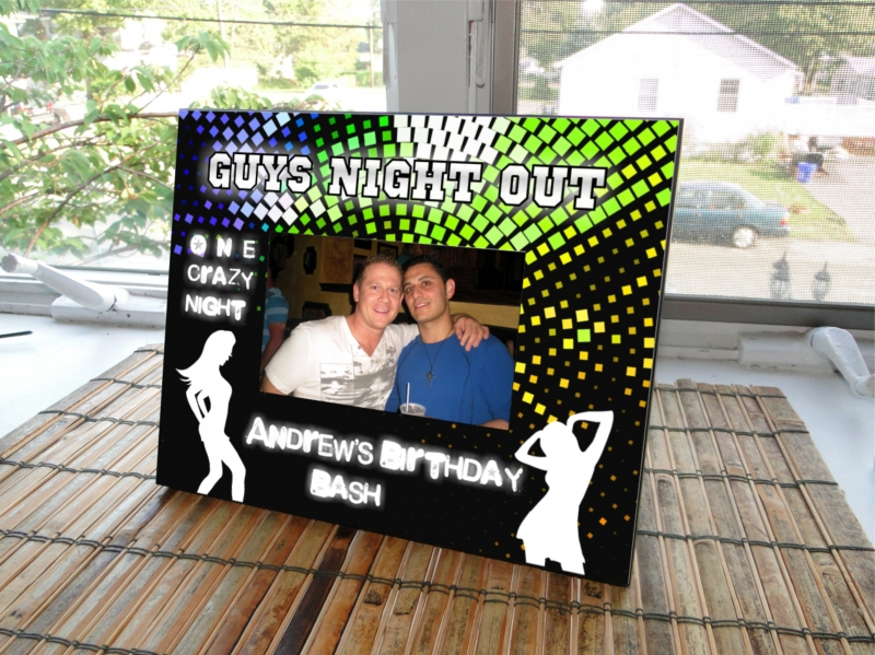 """ Guys Night Out ""Customized Picture Frame"