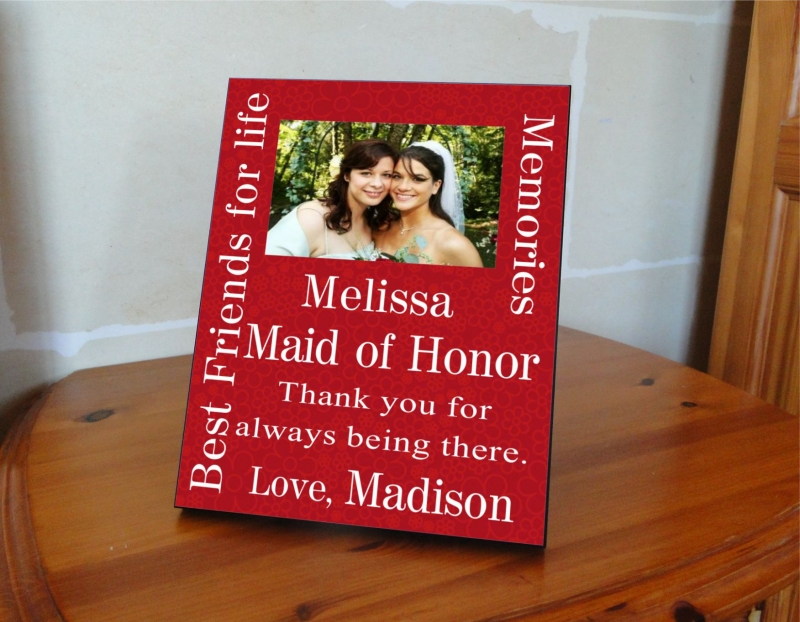 Thanks Maid Of Honor Customized Picture Frame3 Colors