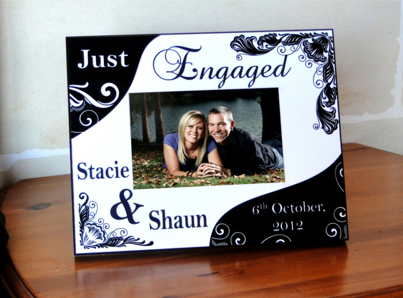 """Just Engaged """" Picture Frame - Customize Nation"""