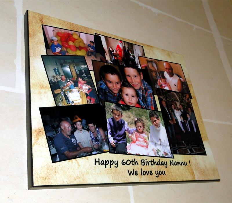 Happy Birthday Photo Collage Wall Panel