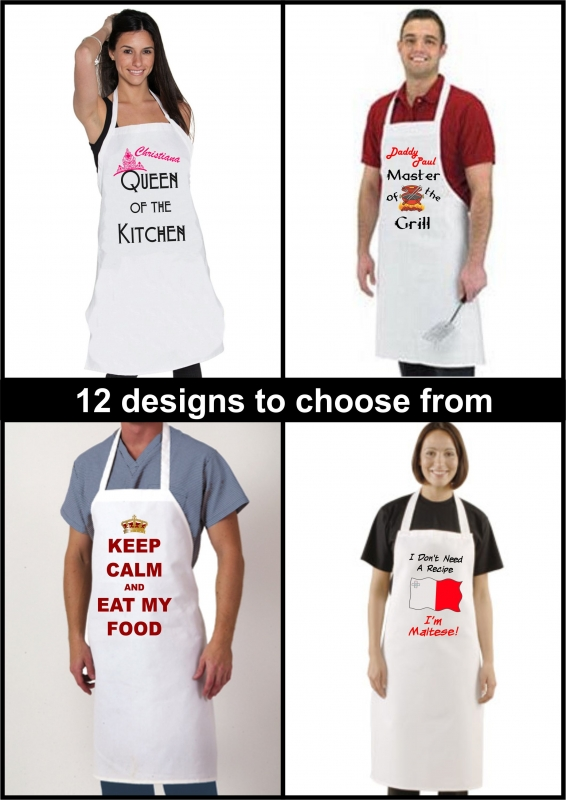 Personalized White Aprons