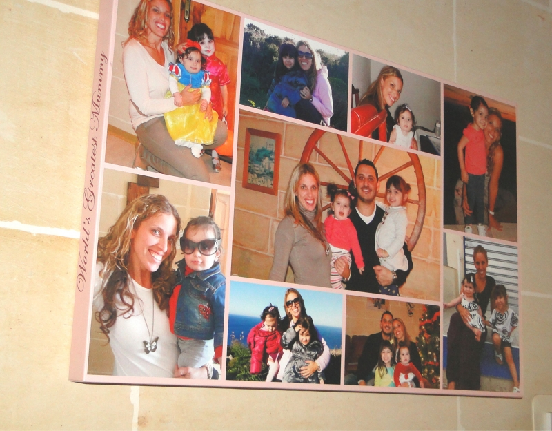 mummy s 9 photo collage canvas print customize nation
