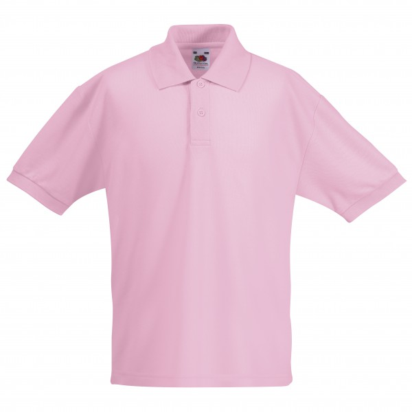 Kids polo shirt fruit of the loom ss11b customize nation for Baby pink polo shirt