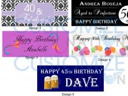 BNR01-01 – adult birthday banners
