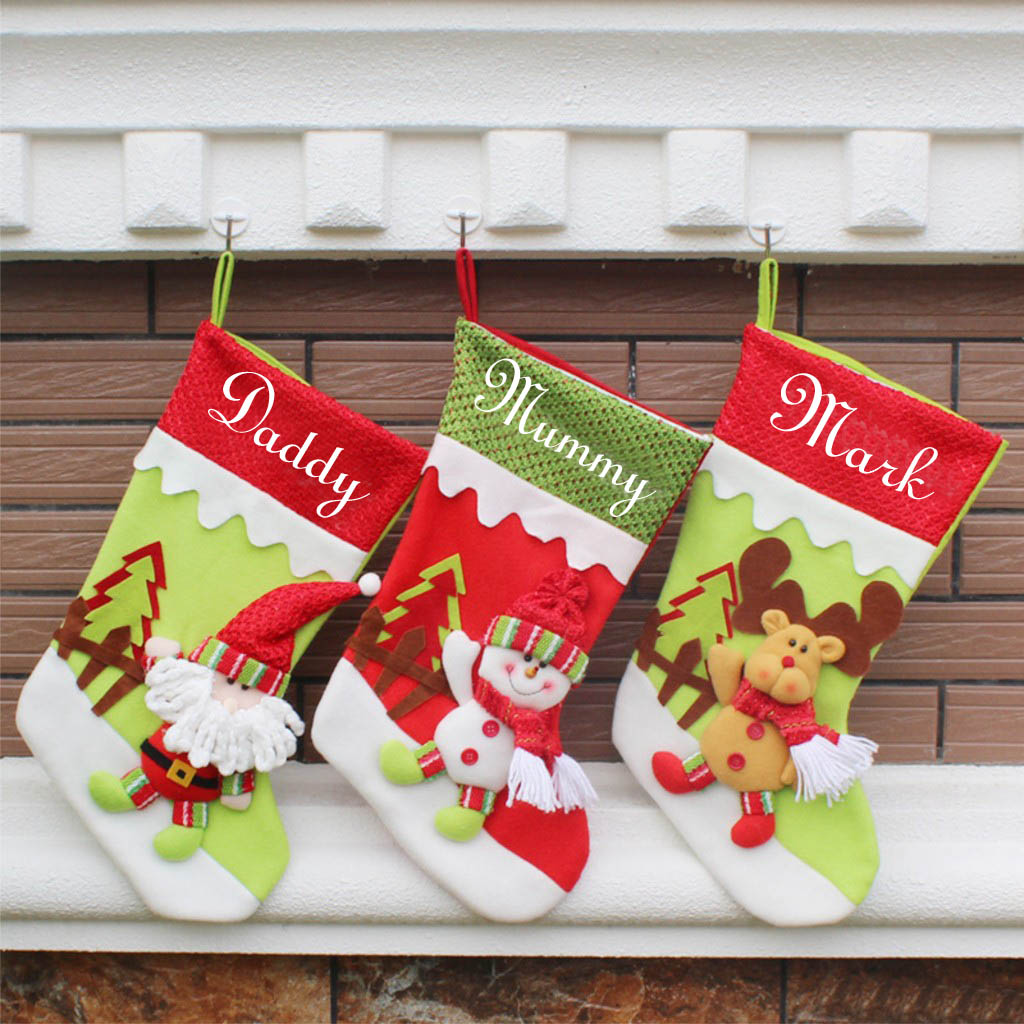 Personalized Kid\'s Christmas Stockings - Customize Nation