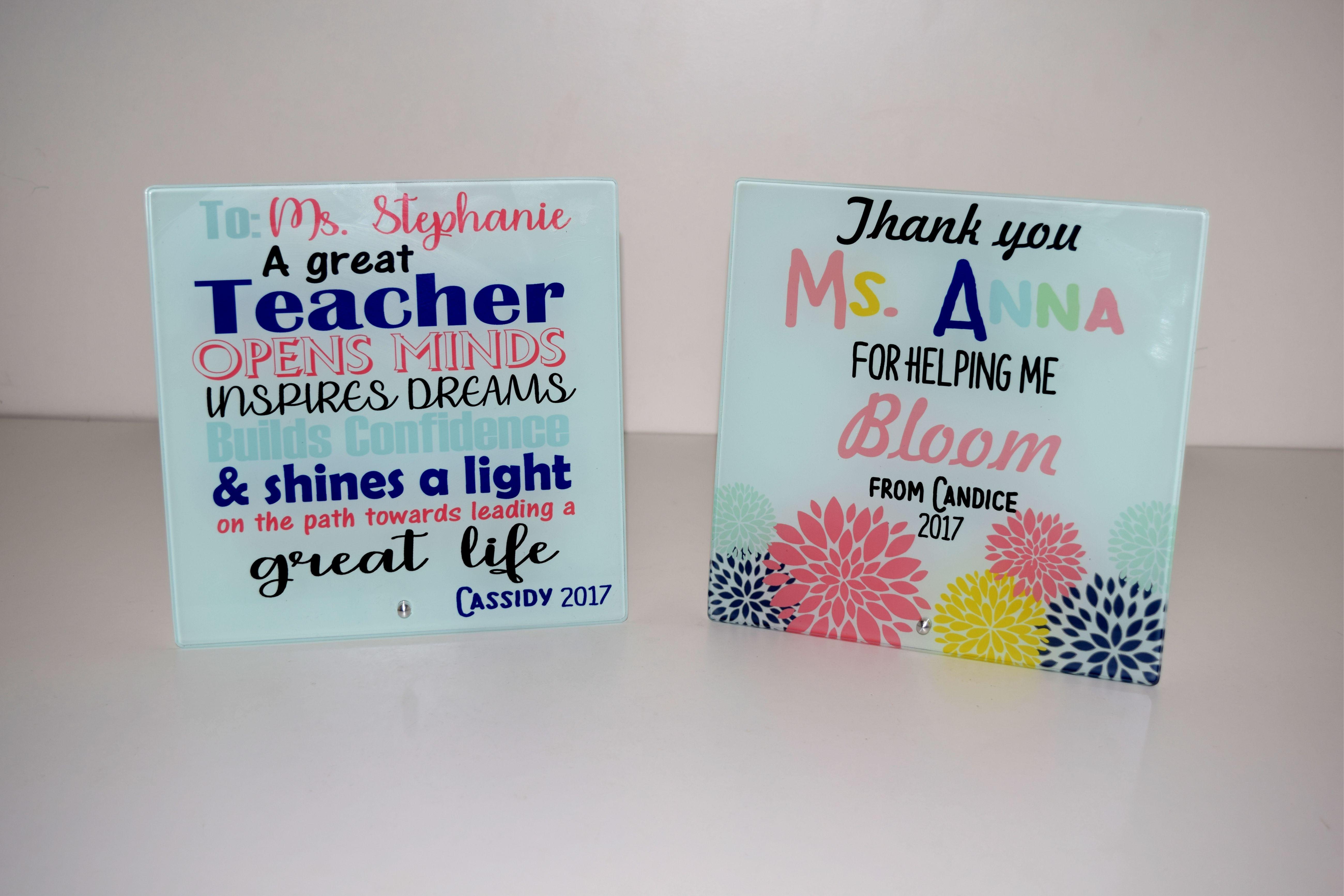 8669891f3808d Customized Glass Plaque Gift for Teacher