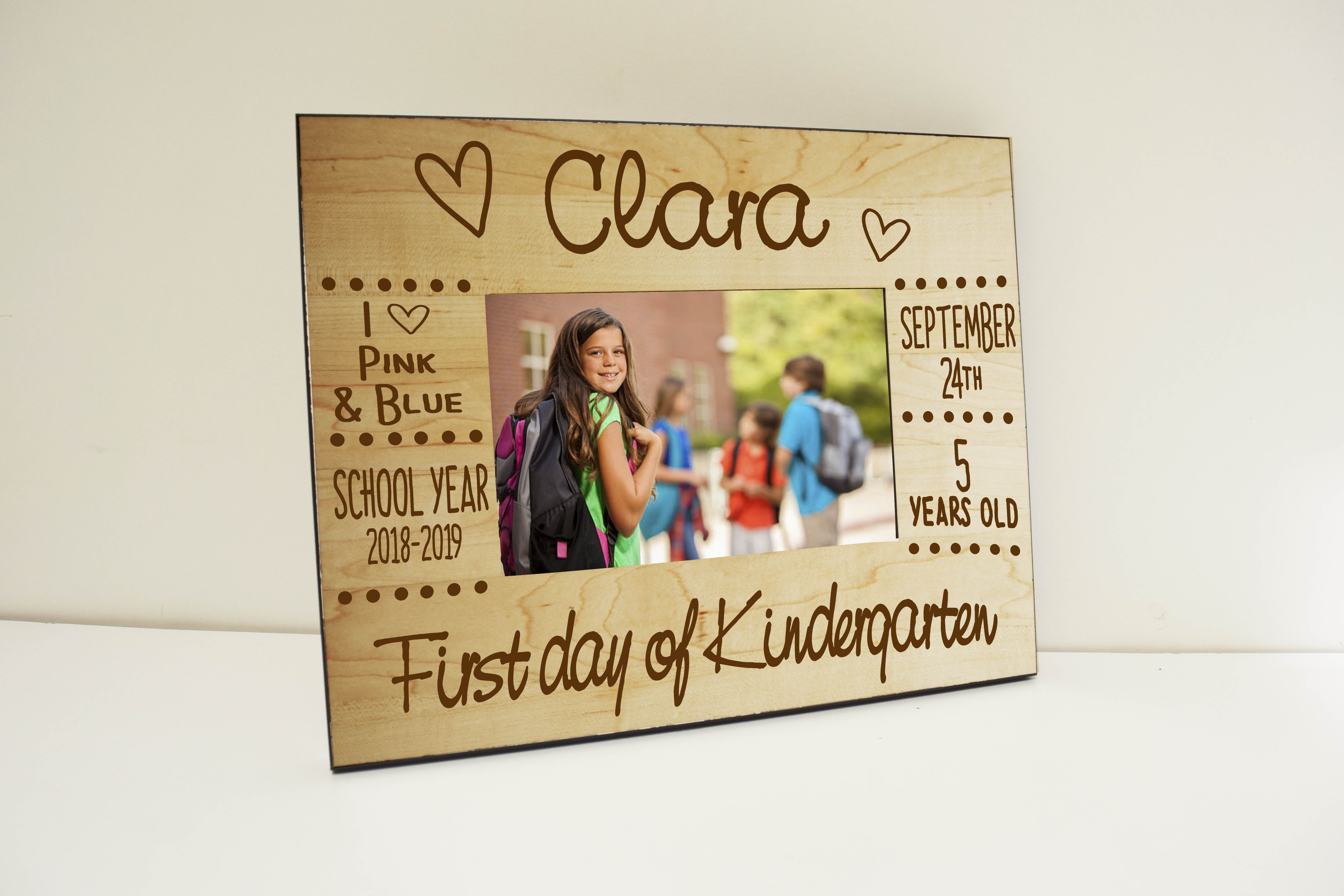 First Day Of School Personalized Photo Frame Customize Nation