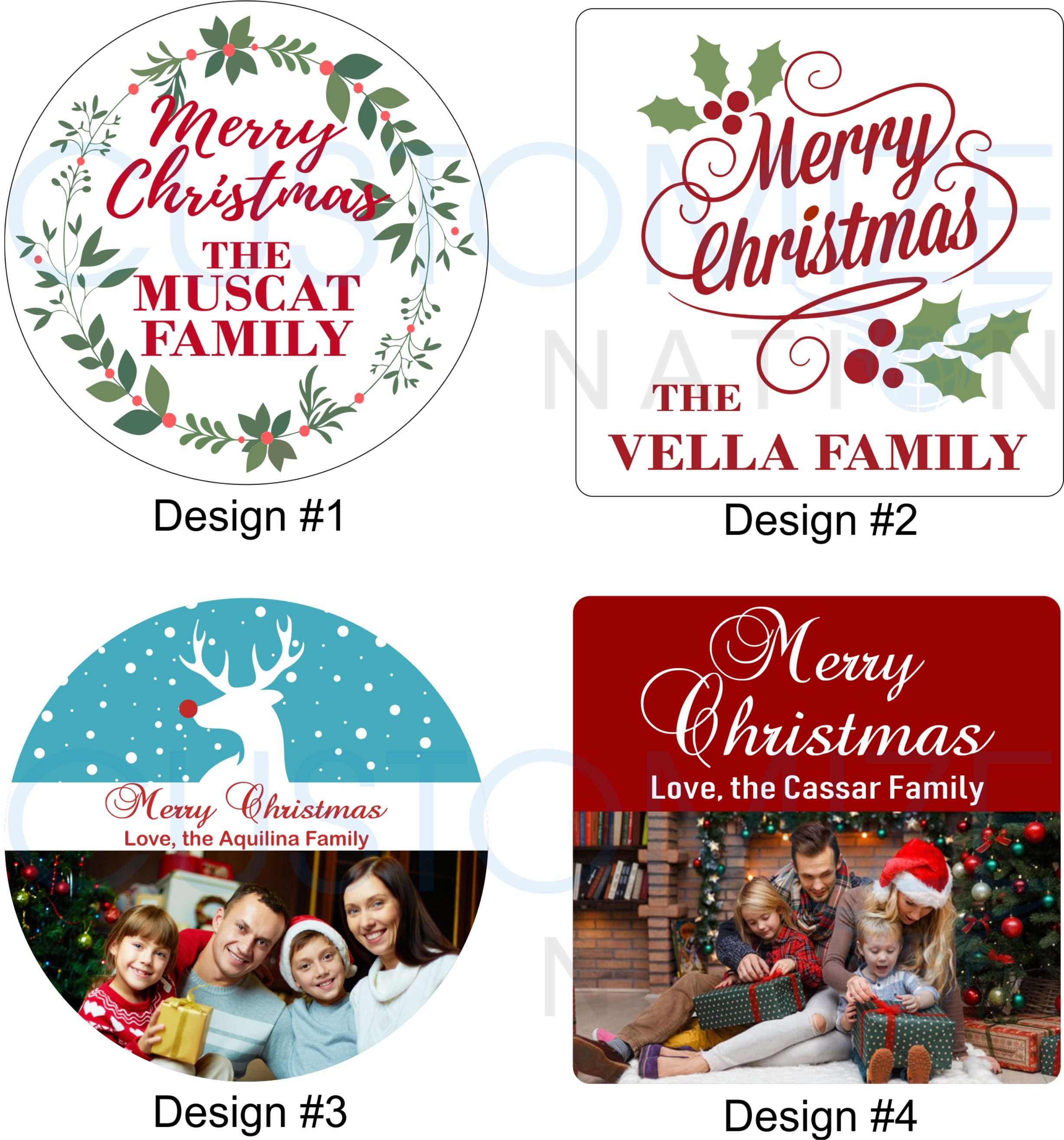 Personalized Christmas Magnets - Customize Nation